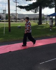 Spaulding Youth Center puts on an outdoor fashion show.